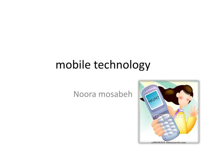 mobile technology n.