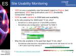 site usability monitoring