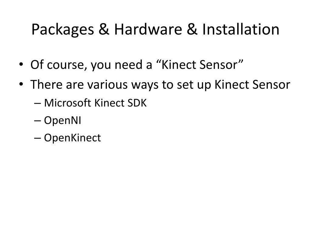 PPT - OpenCV + Kinect PowerPoint Presentation - ID:2391145