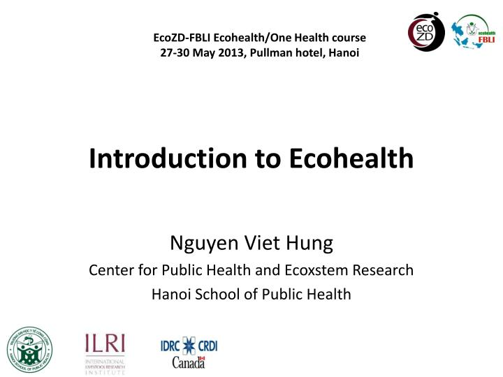 introduction to ecohealth n.