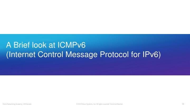 A Brief look at ICMPv6