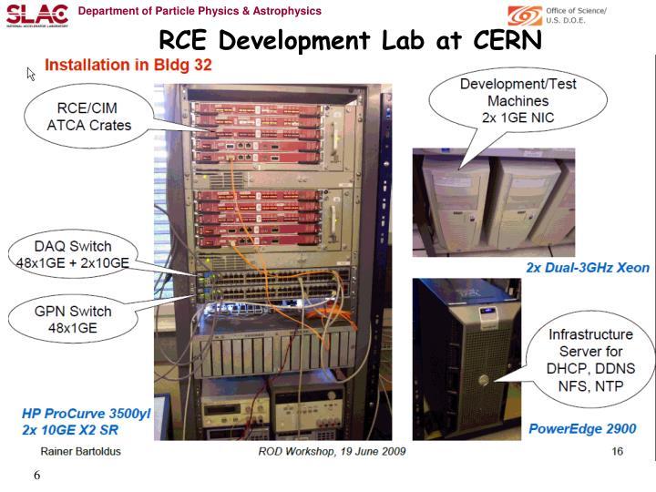 RCE Development Lab at CERN