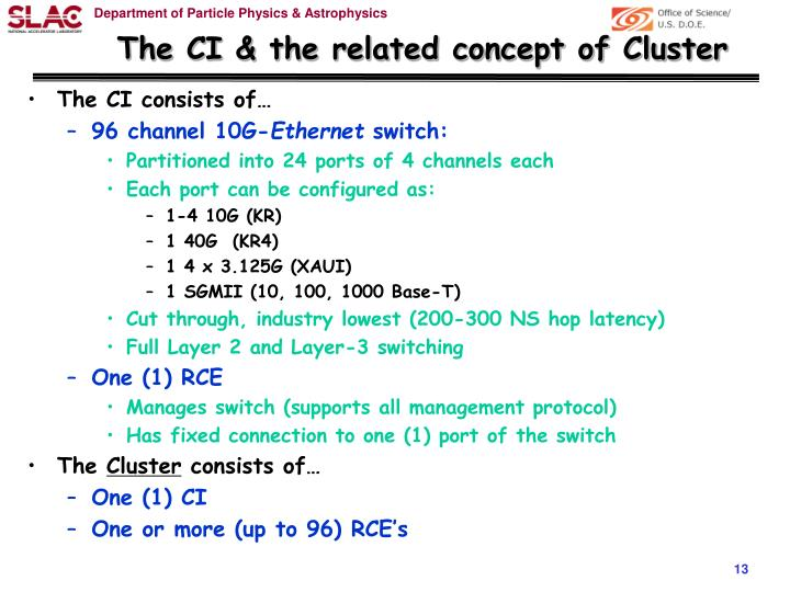 The CI & the related concept of Cluster
