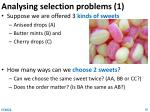 analysing selection problems 1