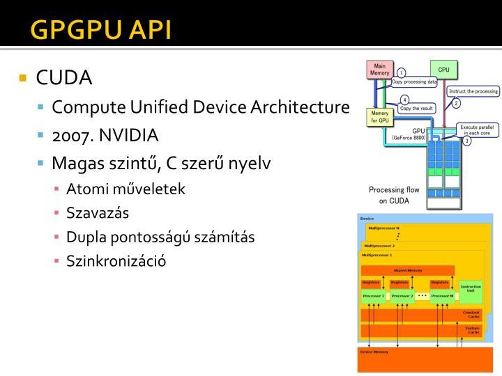 GPGPU API