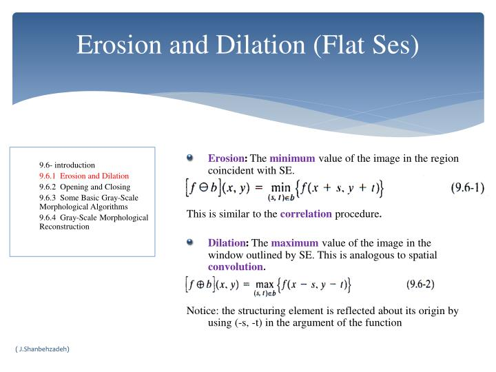 Erosion and Dilation (Flat