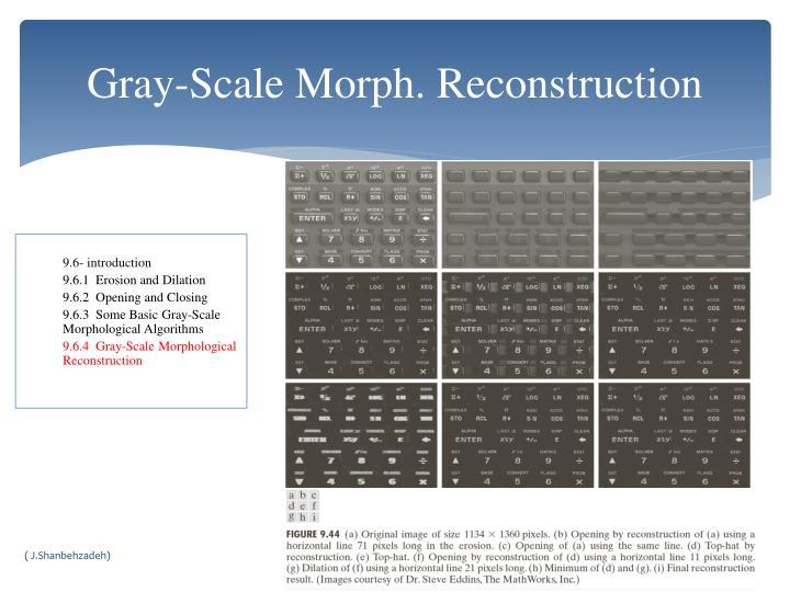 Gray-Scale Morph. Reconstruction