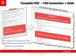 complete pds pds transaction sloa