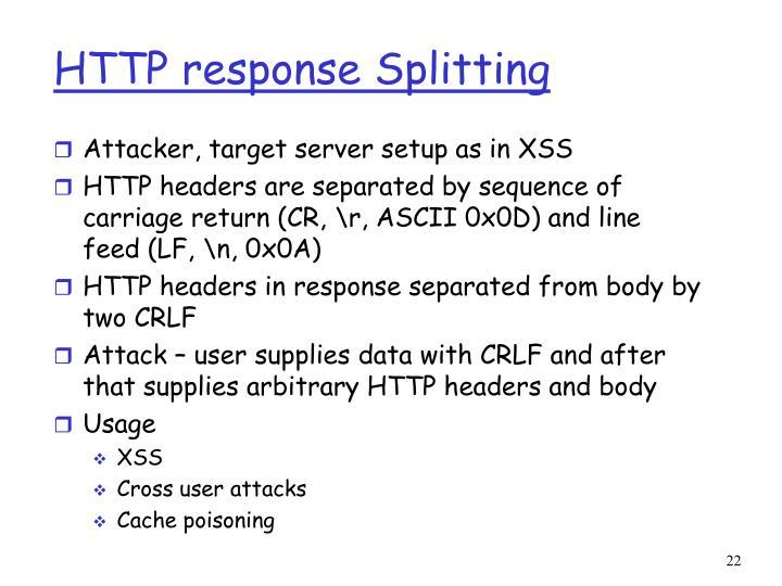 HTTP response Splitting