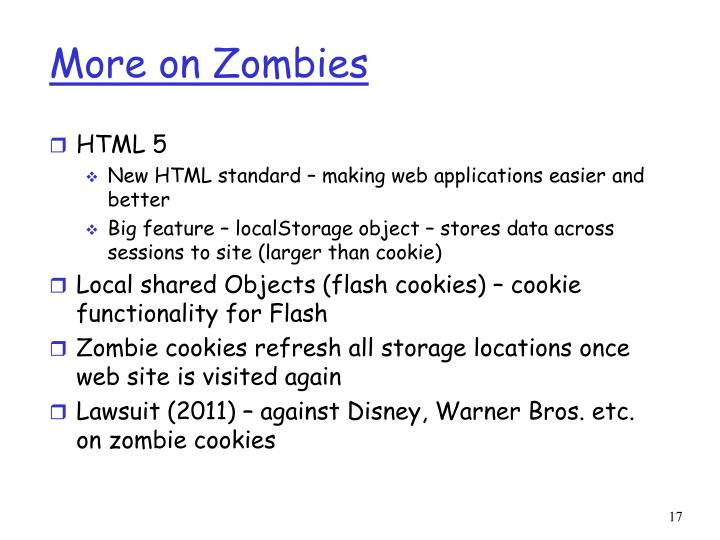 More on Zombies