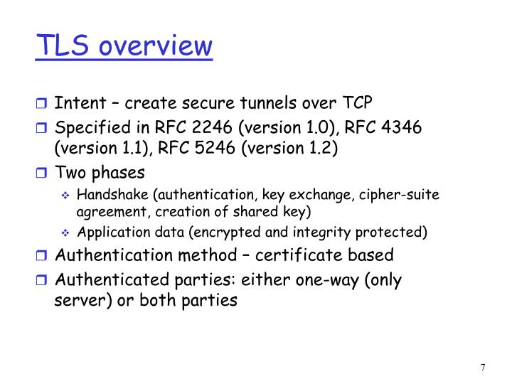 TLS overview