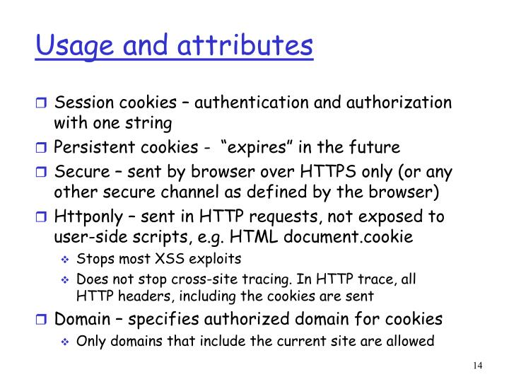 Usage and attributes