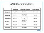 ansi clock standards