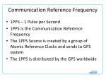 communication reference frequency