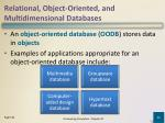 relational object oriented and multidimensional databases3
