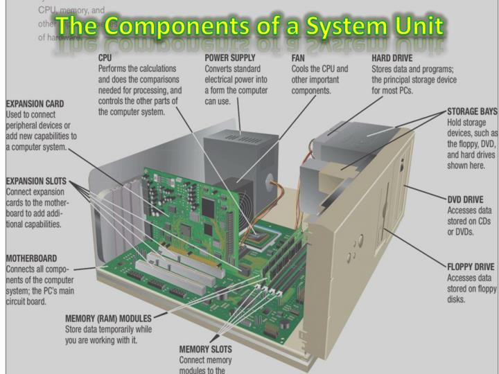 PPT - The Components of a System Unit PowerPoint Presentation, free  download - ID:2391881