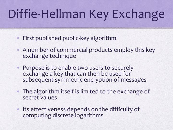 Diffie hellman key exchange