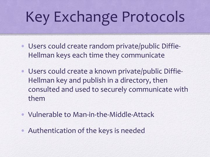 Key Exchange Protocols