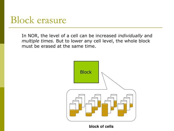 Block erasure