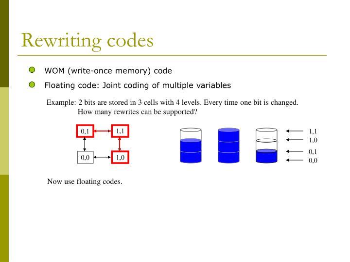 Rewriting codes