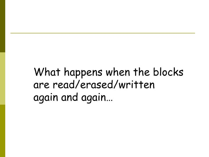 What happens when the blocks