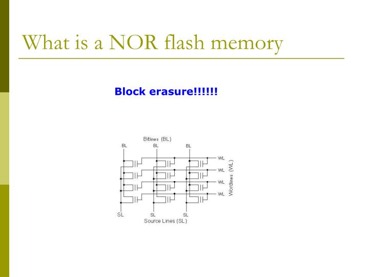 What is a NOR flash memory