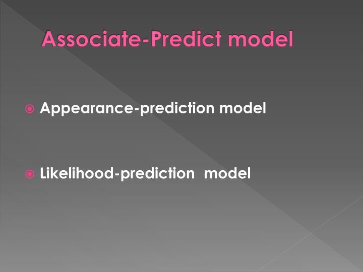 Associate-Predict model