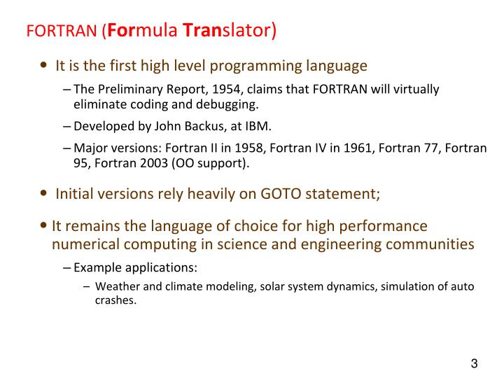 A history of fortran the first programming language