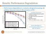 results performance degradation