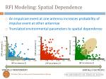 rfi modeling spatial dependence1