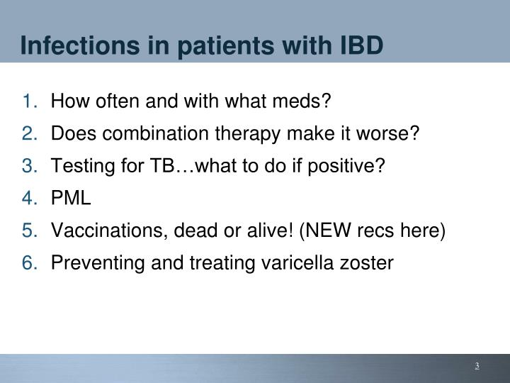 Infections in patients with ibd
