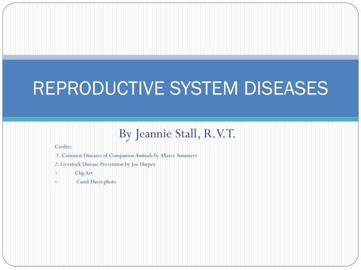 reproductive system diseases n.
