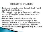 threats to wildlife