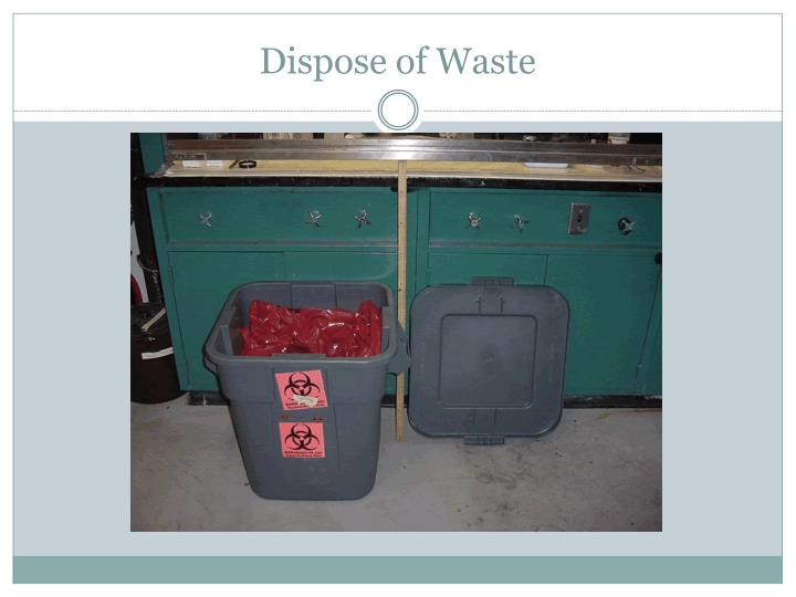 Dispose of Waste