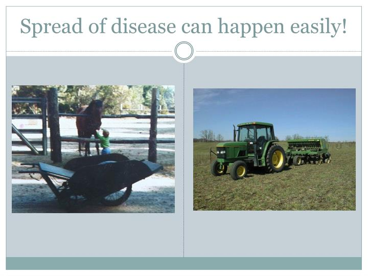 Spread of disease can happen easily!