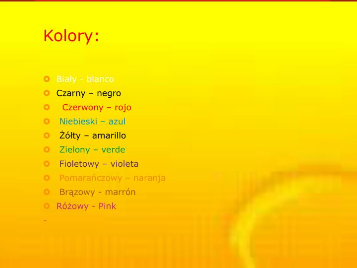 Kolory: