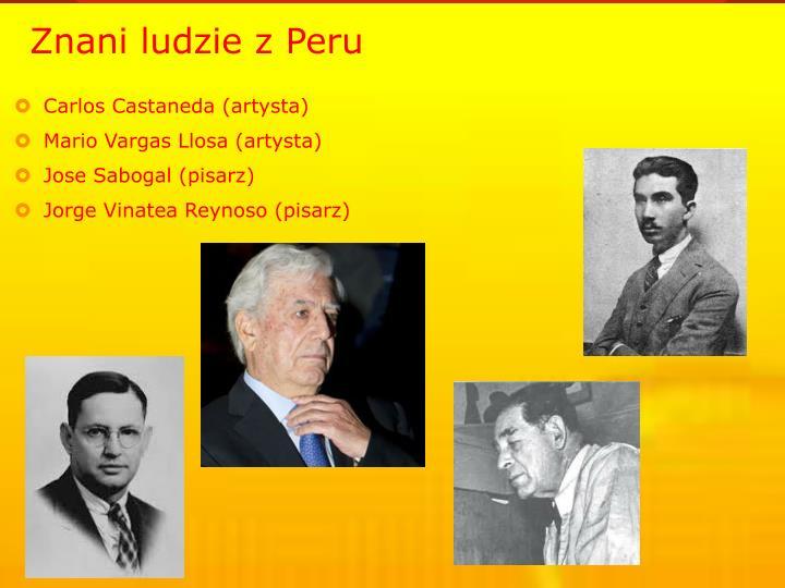 Znani ludzie z Peru