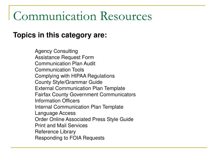 Ppt - An Introduction To The Fairfax County Communication Strategy