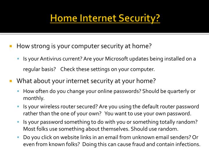 Home Internet Security?