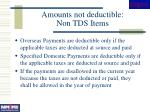 amounts not deductible non tds items
