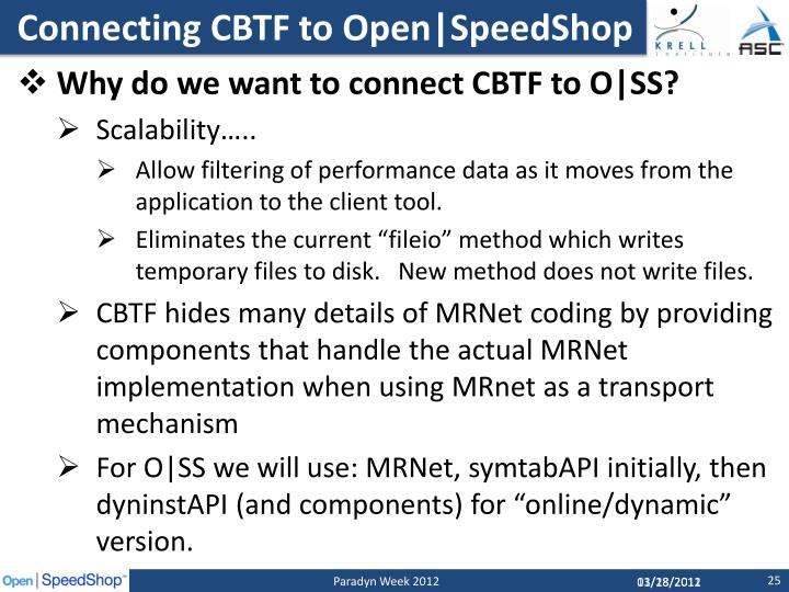 Connecting CBTF to