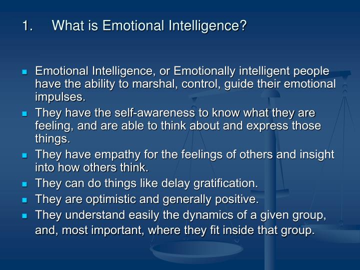 emotional intelligence through workplace learning Join britt andreatta for an in-depth discussion in this video, emotional intelligence at work, part of leading with emotional intelligence.