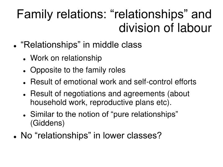 division of labour The concentration of women workers in particular occupations and sectors of the  economy is one manifestation of the sexual division of labour.