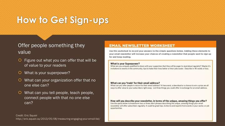 How to Get Sign-ups