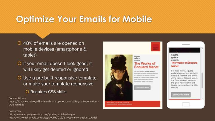 Optimize Your Emails for Mobile
