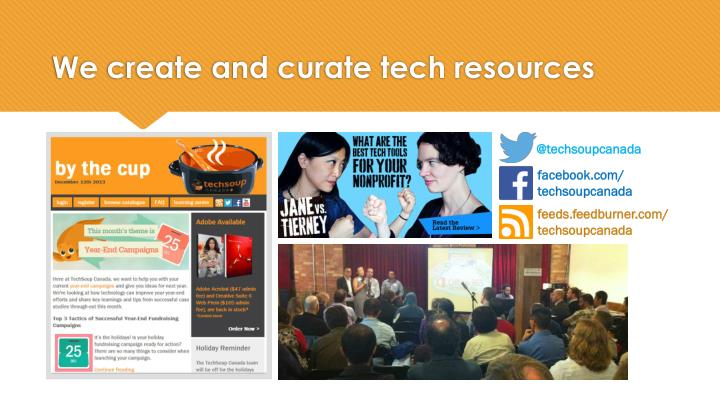 We create and curate tech resources