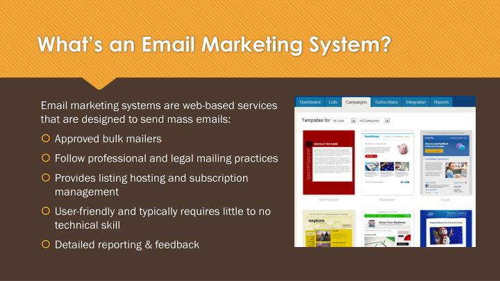 What's an Email Marketing System?