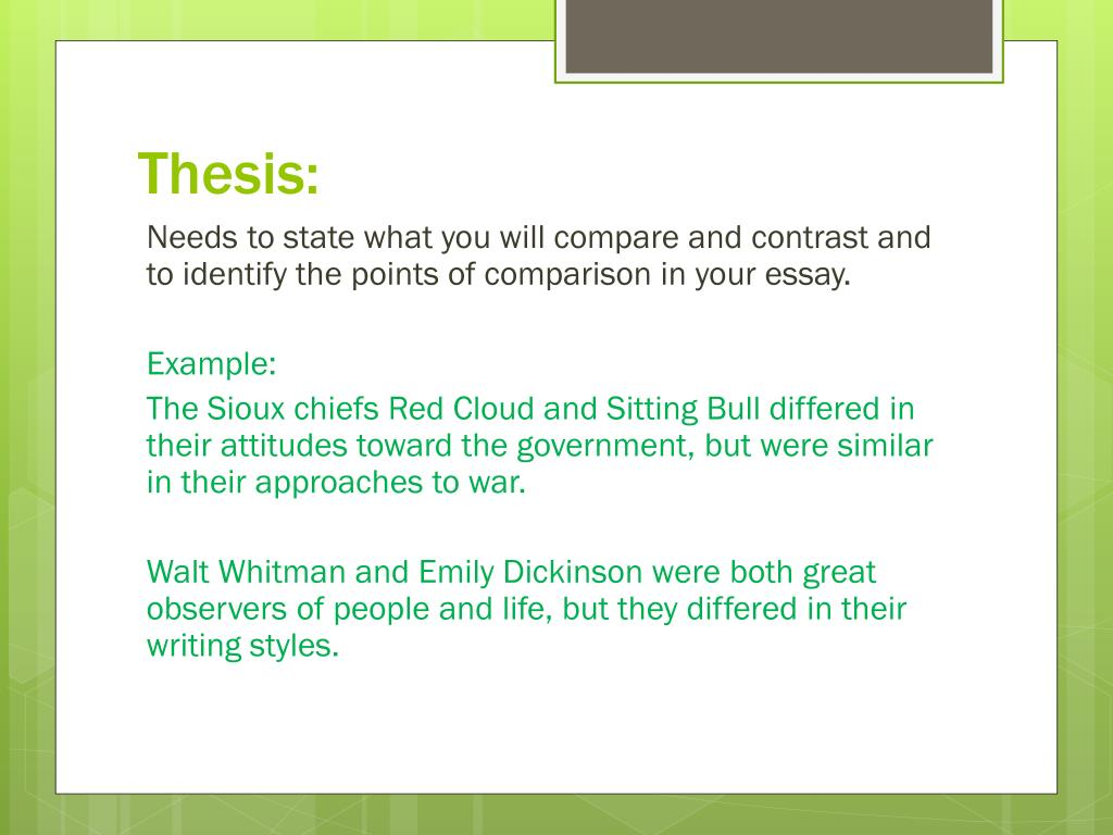 ppt   compare contrast expository essay powerpoint presentation