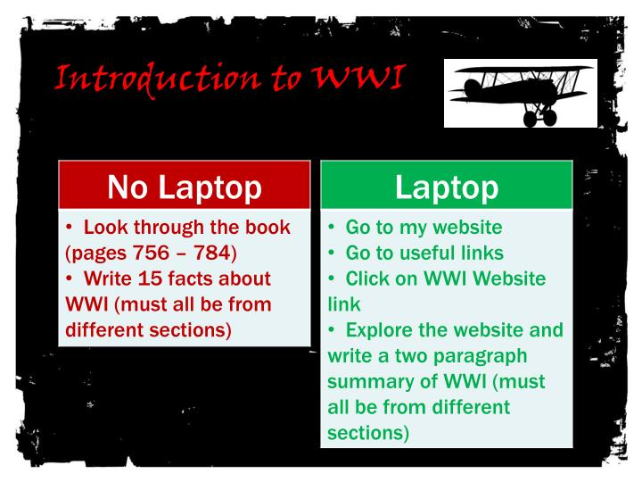 introduction to wwi n.