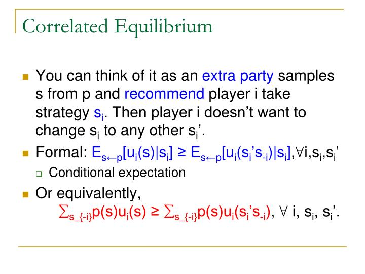 Correlated Equilibrium